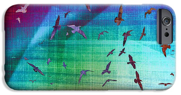 Seagull iPhone Cases - Flock of Seagulls iPhone Case by Hakon Soreide
