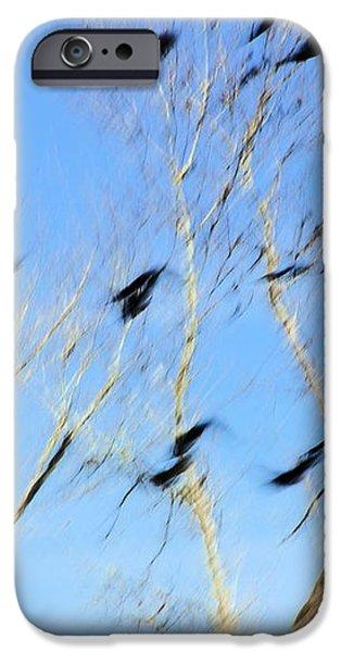 Flocking Crows iPhone Case by Viktor Savchenko