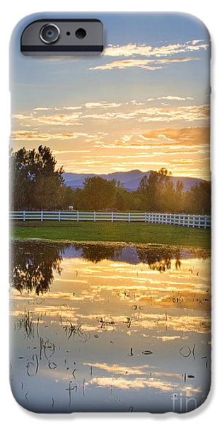 Epic iPhone Cases - Flooded Pasture Country Sunset iPhone Case by James BO  Insogna