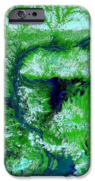 Flooding In Bangladesh iPhone Case by NASA