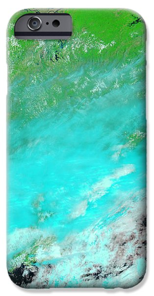 Floods In Jiangxi Province, China iPhone Case by NASA