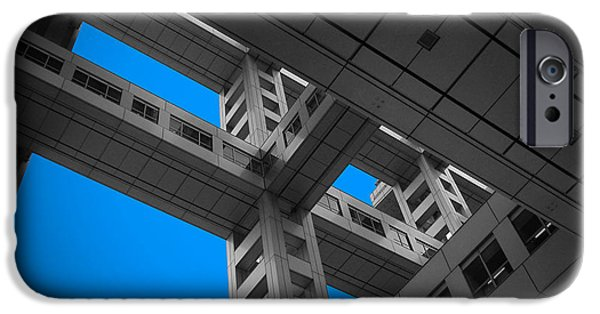History iPhone Cases - Floors of Fuji Building iPhone Case by Naxart Studio