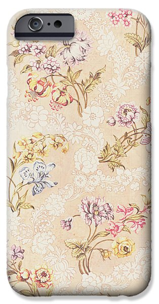 Design Tapestries - Textiles iPhone Cases - Floral design with peonies lilies and roses iPhone Case by Anna Maria Garthwaite