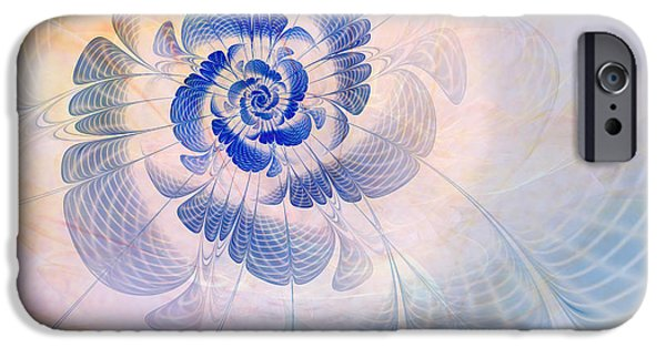 Abstract Digital Digital Art iPhone Cases - Floral Impression iPhone Case by John Edwards