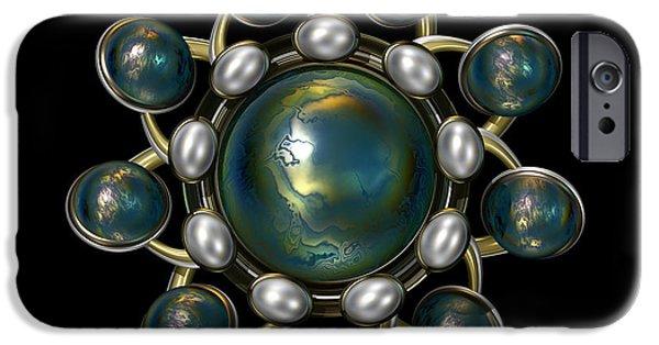 Jewellery Digital Art iPhone Cases - Floral Jewel iPhone Case by Hakon Soreide