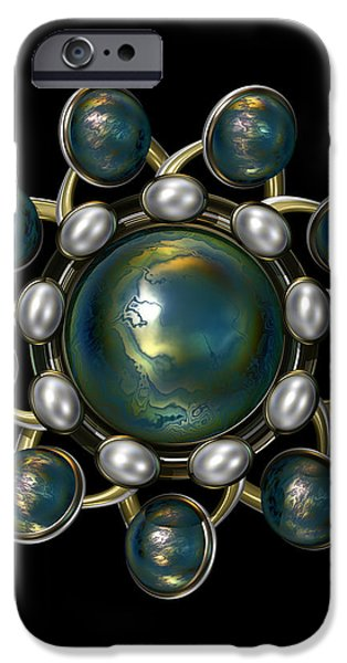Floral Jewel iPhone Case by Hakon Soreide