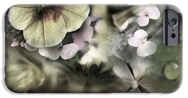 Wet Petals iPhone Cases - Floral Montage iPhone Case by Bonnie Bruno