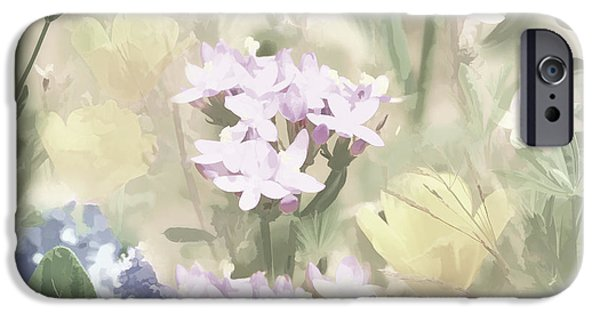 Flora Mixed Media iPhone Cases - Floral Montage No. 4 iPhone Case by Bonnie Bruno