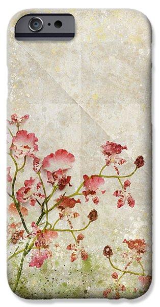 floral pattern iPhone Case by Setsiri Silapasuwanchai