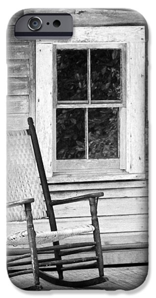 Rocking Chairs Photographs iPhone Cases - Florida Cracker House iPhone Case by Patrick M Lynch