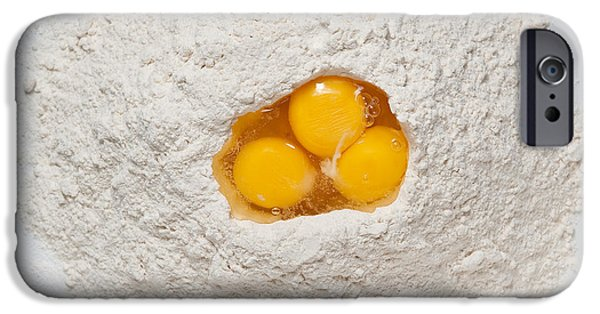 Mounds iPhone Cases - Flour and Eggs iPhone Case by Steve Gadomski
