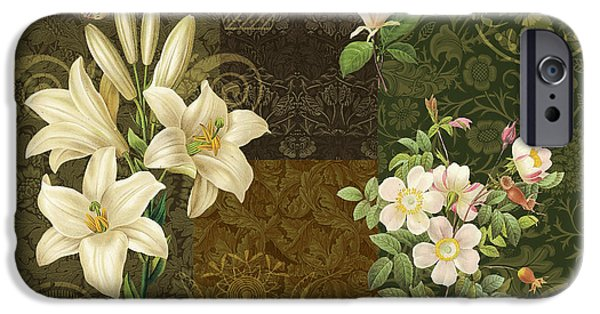 Carpet iPhone Cases - Flower Patchwork 2 iPhone Case by JQ Licensing