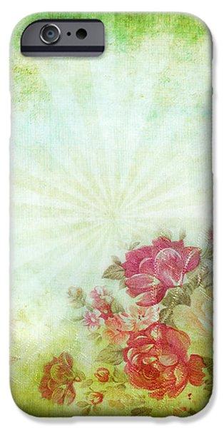 flower pattern on paper iPhone Case by Setsiri Silapasuwanchai
