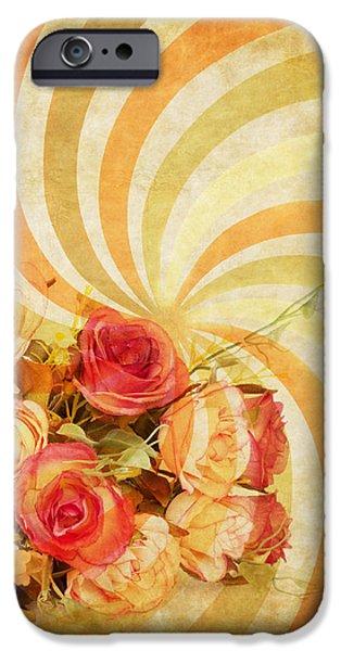 flower pattern retro style iPhone Case by Setsiri Silapasuwanchai
