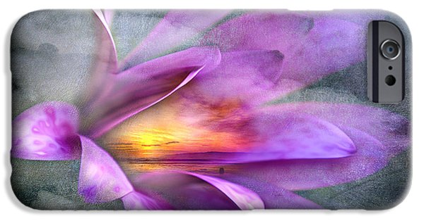 Macro Mixed Media iPhone Cases - Flower Spirit iPhone Case by Svetlana Sewell