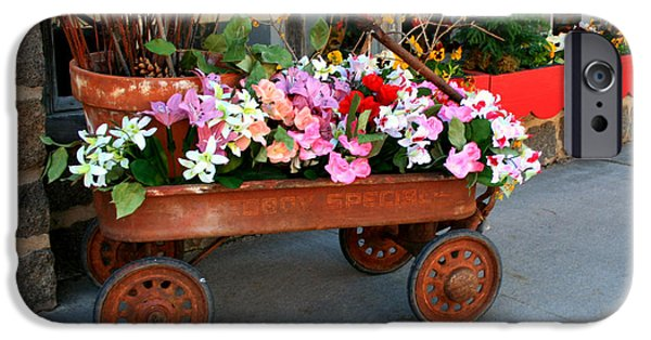 Best Sellers -  - Toy Store iPhone Cases - Flower Wagon iPhone Case by Perry Webster