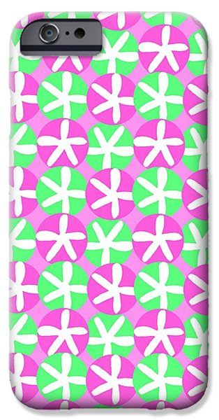 Flowers and Spots  iPhone Case by Louisa Knight