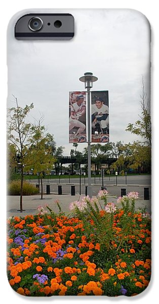 FLOWERS AT CITI FIELD iPhone Case by ROB HANS