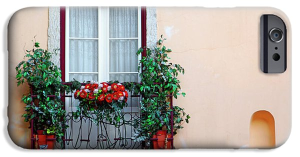 Flowerpot iPhone Cases - Flowery Balcony iPhone Case by Carlos Caetano