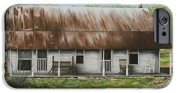 White House iPhone Cases - Floyd Arkansas Oldest House iPhone Case by Mary Ann King