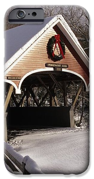 Flume Covered Bridge - Lincoln New Hampshire USA iPhone Case by Erin Paul Donovan