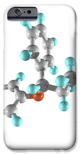 Fluoxetine Drug Molecule iPhone Case by Laguna Design
