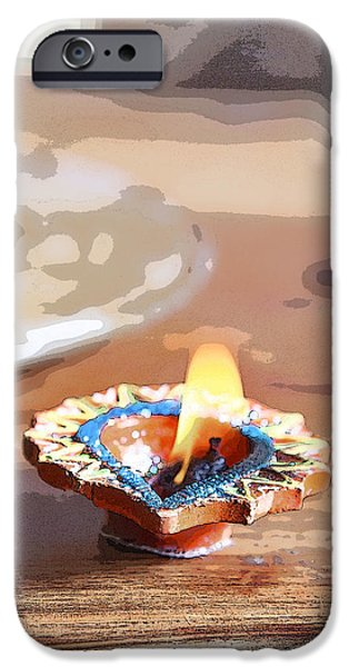 Clarify iPhone Cases - Fluttering Divali Holi Candle iPhone Case by Kantilal Patel