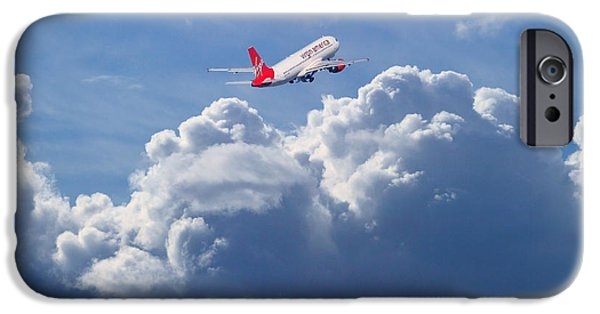 Boeing 747 iPhone Cases - Fly Me To The Moon iPhone Case by Wingsdomain Art and Photography