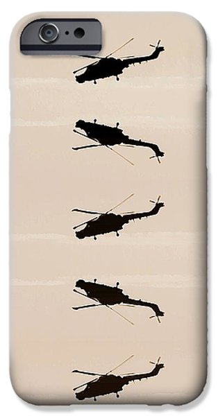 Helicopter iPhone Cases - Flying high iPhone Case by Sharon Lisa Clarke