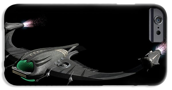 Copy Machine Digital Art iPhone Cases - Flying Machine Inspired By The Martians iPhone Case by Rhys Taylor