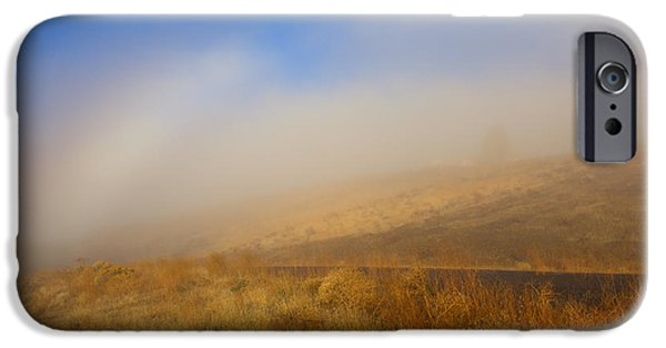 Yakima Valley iPhone Cases - Fog Bow at Lookout Point iPhone Case by Mike  Dawson