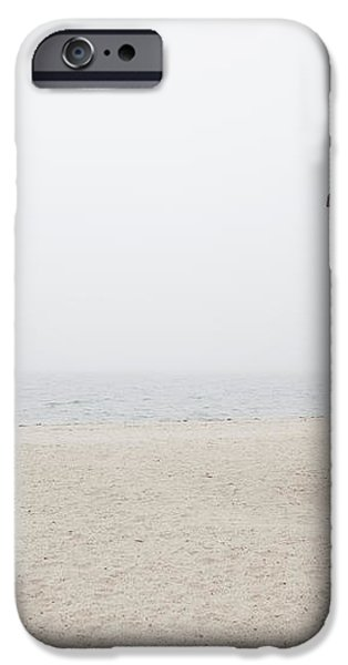 Foggy New England Beach iPhone Case by Jenna Szerlag