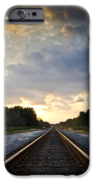 Follow the Tracks iPhone Case by Carolyn Marshall