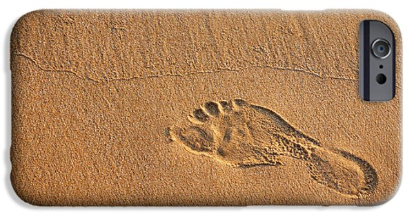 Freedom iPhone Cases - Foot Print iPhone Case by Carlos Caetano
