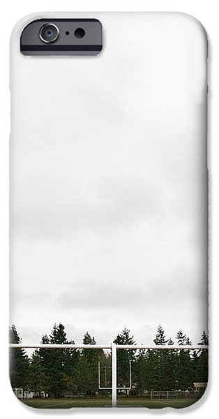 Football Field and Goalpost iPhone Case by Andersen Ross