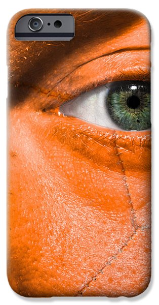 Football Scars iPhone Case by Semmick Photo