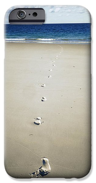 Whitsunday iPhone Cases - Footprints iPhone Case by Carlos Dominguez