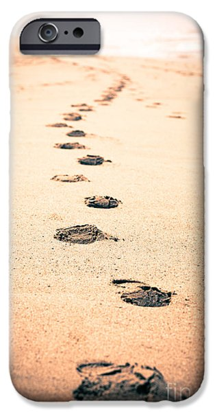 Footprints in Sand iPhone Case by Paul Velgos