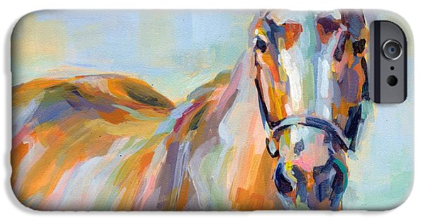 Thoroughbred iPhone Cases - For Her Eyes Only iPhone Case by Kimberly Santini