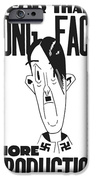 Caricature Mixed Media iPhone Cases - For That Long Face More Production iPhone Case by War Is Hell Store