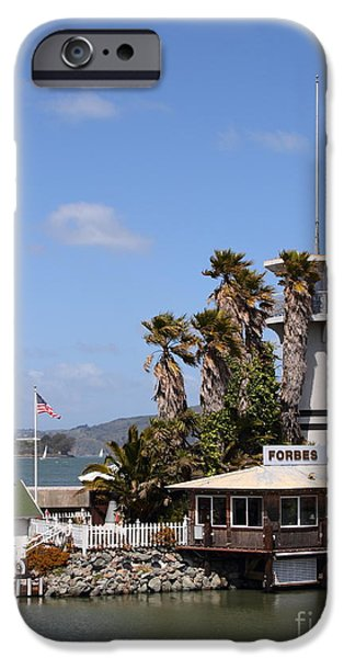 Forbes Island Restaurant With Alcatraz Island in The Background . San Francisco California . 7D14263 iPhone Case by Wingsdomain Art and Photography