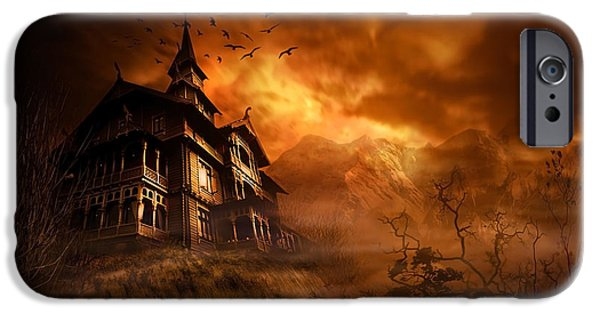 Eerie iPhone Cases - Forbidden Mansion iPhone Case by Svetlana Sewell