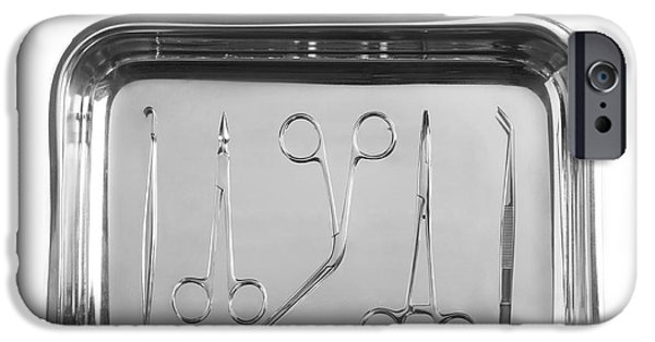 Cut-outs iPhone Cases - Forceps In A Tray iPhone Case by
