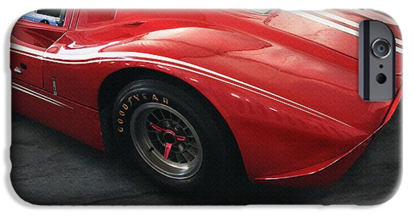 Indy Car iPhone Cases - Ford GT 40 LeMans Winner 1967 iPhone Case by Curt Johnson