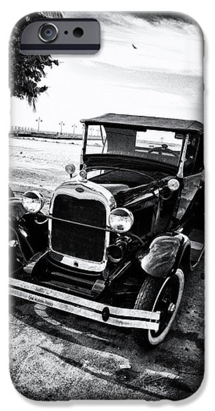 Model iPhone Cases - Ford Model T Film Noir iPhone Case by Bill Cannon