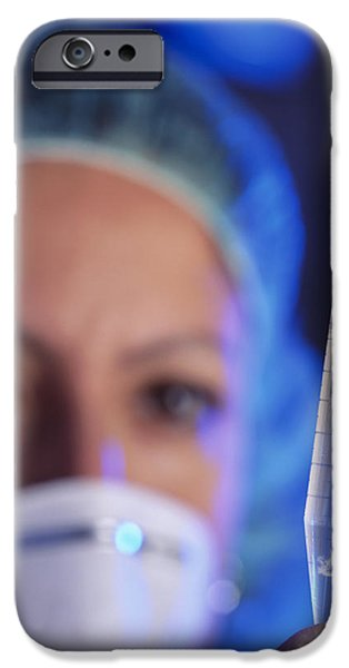 Police Officer iPhone Cases - Forensic Dna Analysis iPhone Case by Mauro Fermariello