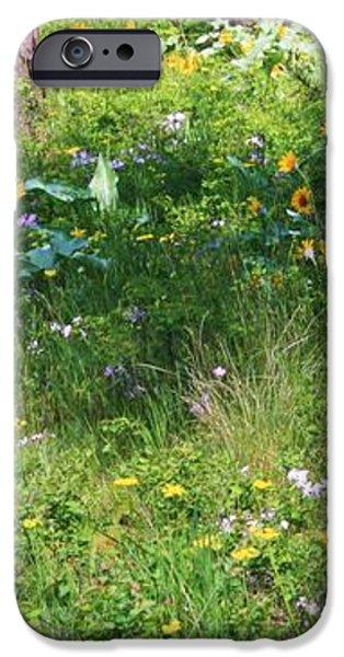 Forest Flowers Landscape iPhone Case by Carol Groenen