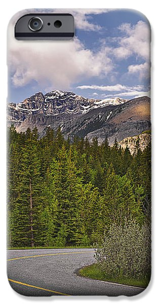 Forest Road In Kananaskis Country iPhone Case by Tatiana Boyle