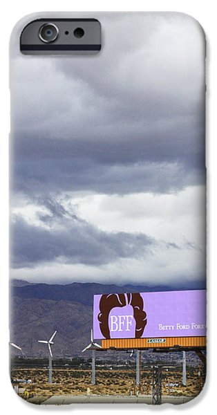First Lady iPhone Cases - Forever Palm Springs iPhone Case by William Dey