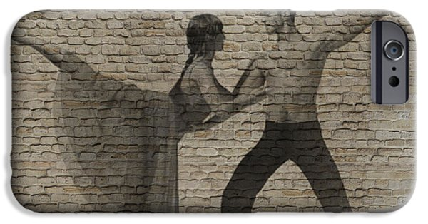 Dancer iPhone Cases - Forgotten Romance 2 iPhone Case by Naxart Studio